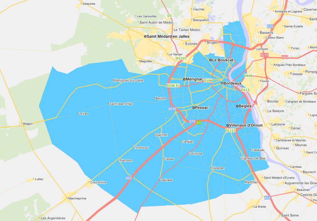 zone debouchage canalisation Bordeaux