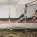 réparation canalisation semi-enterrée